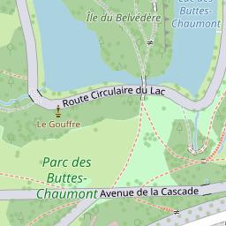 Carte Buttes Chaumont.Parc Des Buttes Chaumont A Paris 19e Arrondissement